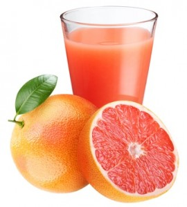 grapefruit juice in glass